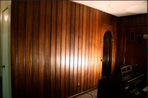 Painting Dark Wood Paneling