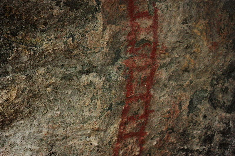 cave painting ladder