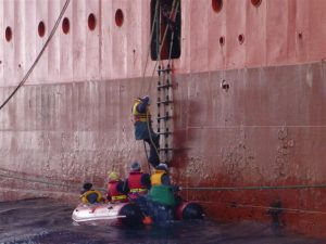 rope ladder onboat