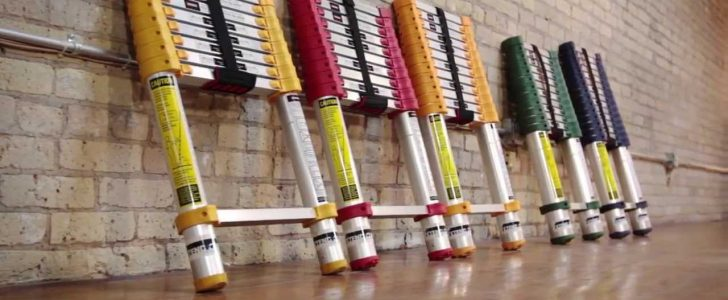 ladders in different colors