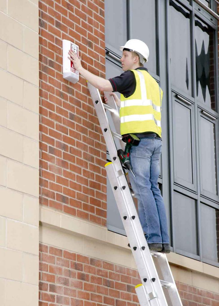 ladder with painter