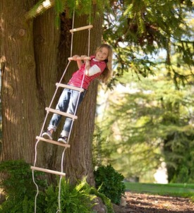 rope ladder and girl