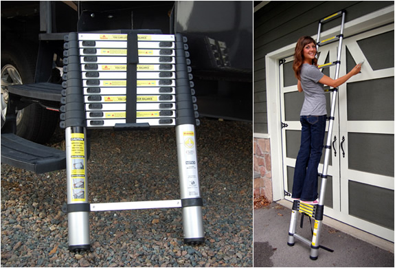 extendable telescoping ladder